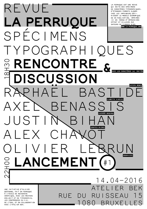 Rencontre typographie, presse & direction artistique